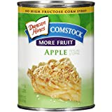 Comstock More Fruit Pie Filling & Topping, Apple, 21 Ounce - 3 Pack