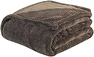 WarmZone Heat Reflective Blanket, Chocolate (Full/Queen) – Thermo-Conducive Coating Reflects Body Heat for Warmth – Ultra-Soft Micro-Sherpa Fabric – 100% Safe, No Cords or Plugs – Machine Washable