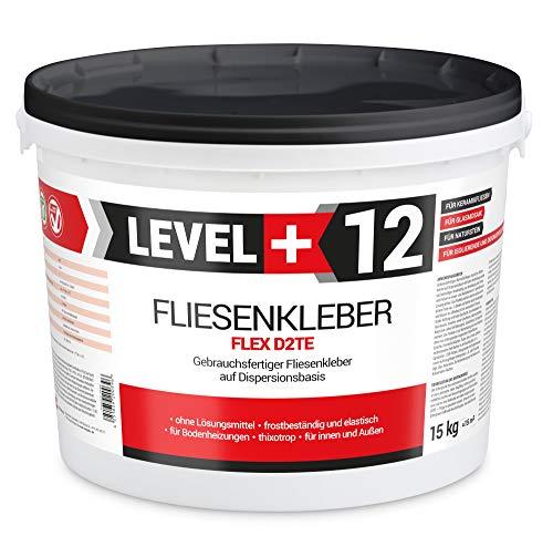 15 kg Fertig Fliesenkleber Steinkleber Flexmörtel Weiß Innen Außen Dispersions-Kleber RM12