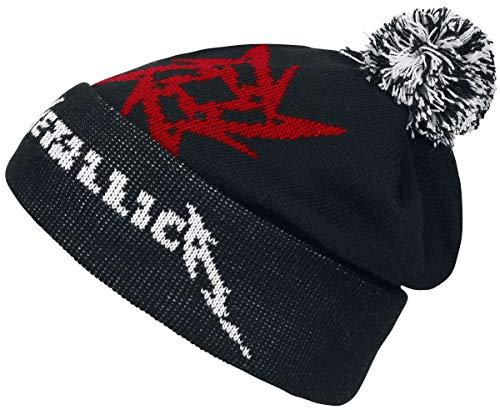 Générique Metallica Bonnet Glitch Star Logo Noir