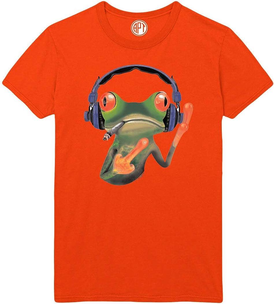 Smoking Frog Printed T-Shirt