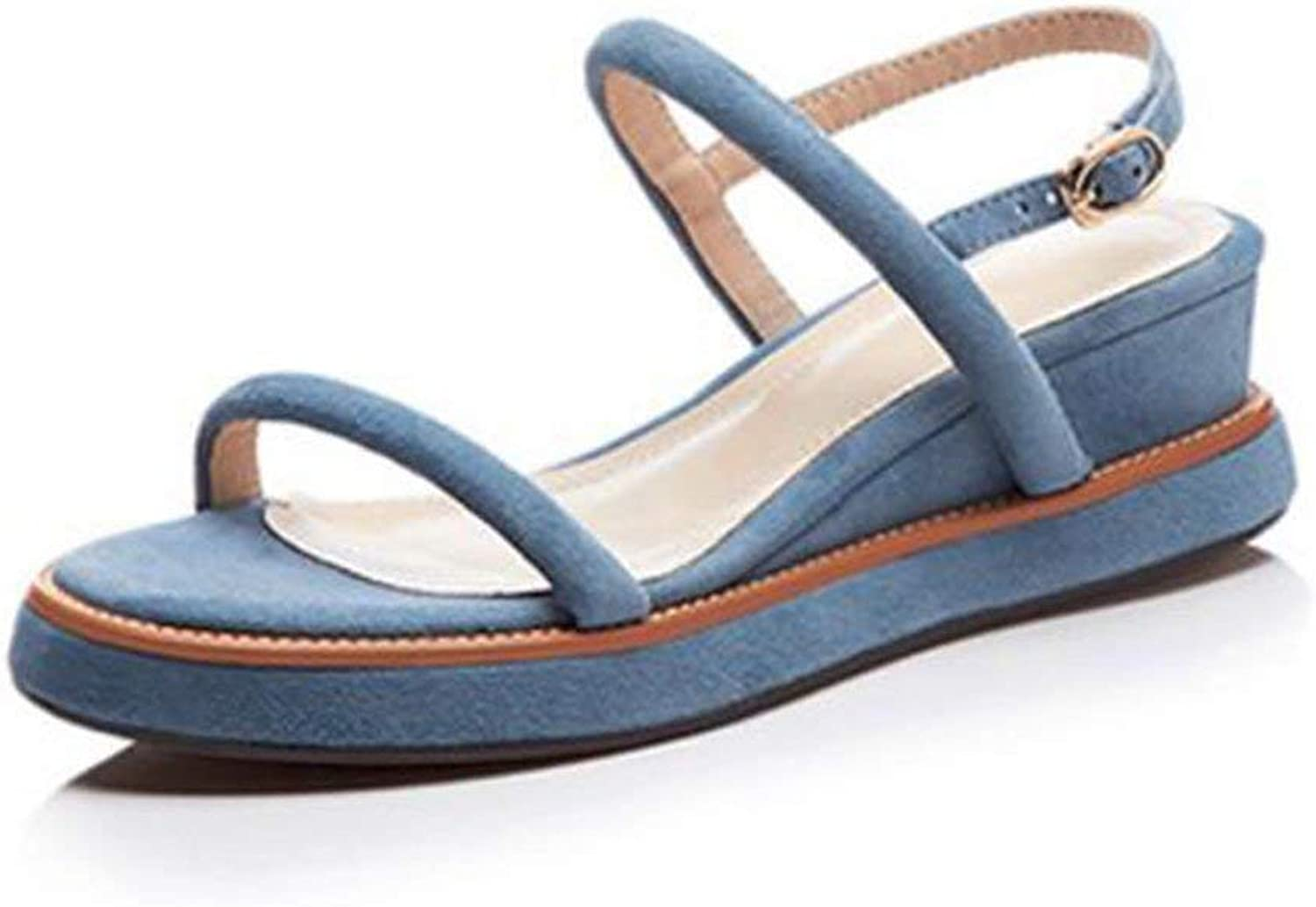 Comfortable and beautiful ladies sandals Sandals Summer Female Open Toe Middle Heel Single shoes Rubber Material