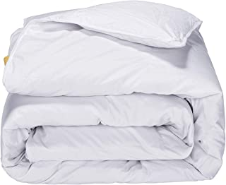 PUREDOWN  Lightweight Comforter, Goose Down, Quilted Duvet Insert, 100% Cotton Fabric, White, King