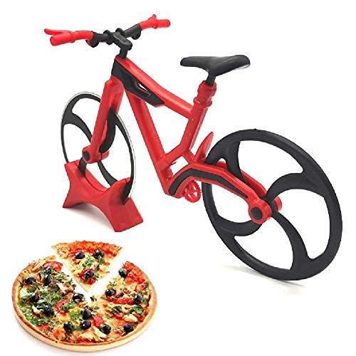 Lady of Luck Fahrrad Pizzaschneider, Edelstahl Pizza Schneider, Pizza Cutter aus Antihaftbeschichtetem Edelstahl für Party Usw