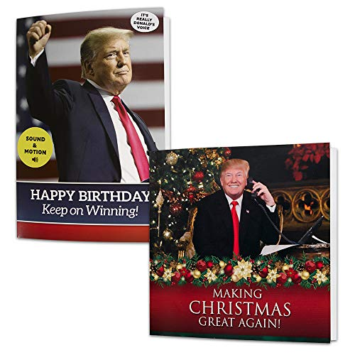 Trump Dancing Birthday Card & Christmas Card Set – Give Someone a Personal Birthday or Christmas Greeting from The President of The United States - Includes Envelopes