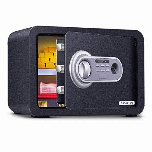 YDHG Caja de Seguridad Digital Seguridad electrónica Caja Segura de la Huella Digital Depósito biométrico de la Carga Delantera Cash Bault Drop Safe Box Caja Fuerte para Guardar Dinero