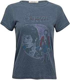 Womens David Bowie Distressed Vintage Look T-Shirt Band Tee