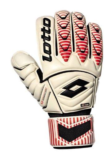 Lotto Glove Gripster Gk100II, Torwarthandschuhe, Glove GRIPSTER GK100 II, Wht/F.Red/Black