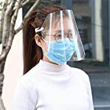 Cotify Full Face Protective Visor Face Shield Clear Visor Flip Up Transparent Face Shield 1 Pcs Anti Splash Elastic Band Full Face Cover for Workshop Cooking Cleaning