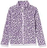Amazon Essentials Polar Fleece Full-Zip Mock Jackets Chaqueta de Forro, Leopardo Gris, L