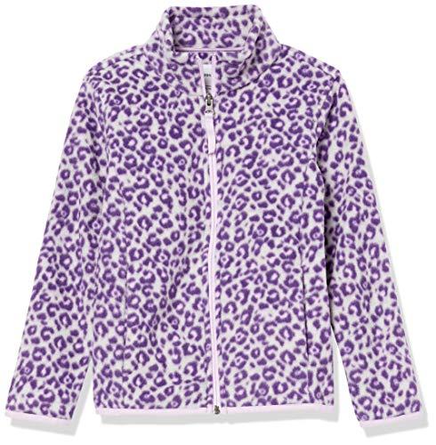 Amazon Essentials Full-Zip Polar Fleece-Outerwear-Jackets, Grauer Leopard, 6-7 Jahre
