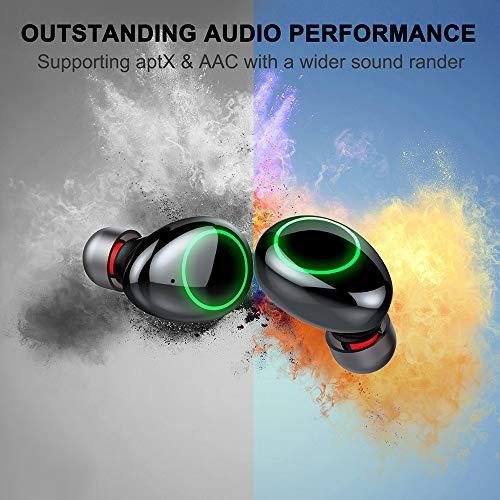 Motast Auriculares Bluetooth, Auriculares Inalámbricos Bluetooth 5.0, IP8 Impermeable Auriculares Inalámbricos Deporte, 3500mAh Caja de Carga, HI-FI Estéreo Micrófono, Pantalla LCD, Control Tactil