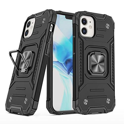 Funda para Apple iPhone 12 Pro, rotación de 360 grados, funda para teléfono móvil 【 resistente a los golpes de silicona TPU + armadura de policarbonato 】protectora para iPhone 12 Pro (negro)