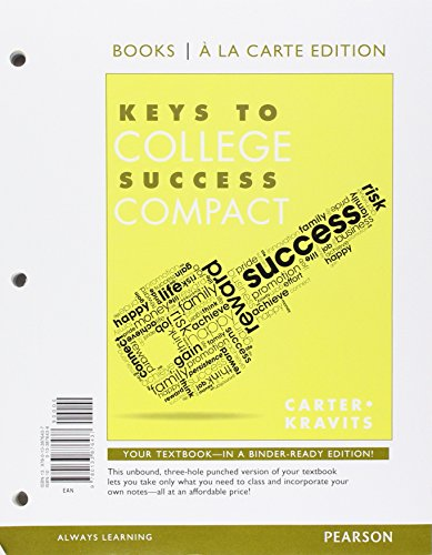 Keys to College Success Compact, Student Value Edition Plus NEW MyLab Student Success -- Access Card Package