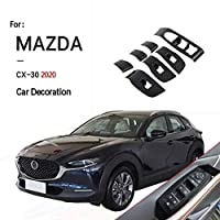 MAZDA 2020 CX-30 コントロールパネルカバー ABS シフトパネルプロテクター ガーニッシュ カーインナーアクセサリーウィンドウスイッチコントロールパネル