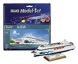 Revell Modellbausatz Schiff 1:1200 - AIDA im Maßstab 1:1200, Level 3, originalgetreue Nachbildung mit vielen Details, Kreuzfahrtschiff, Model Set mit Basiszubehör, 65805 -