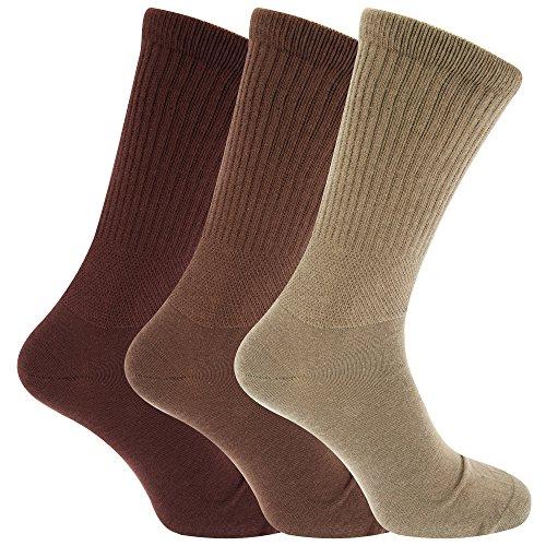HDUK Mens Socks Herren Socken, Braun Schattierungen,