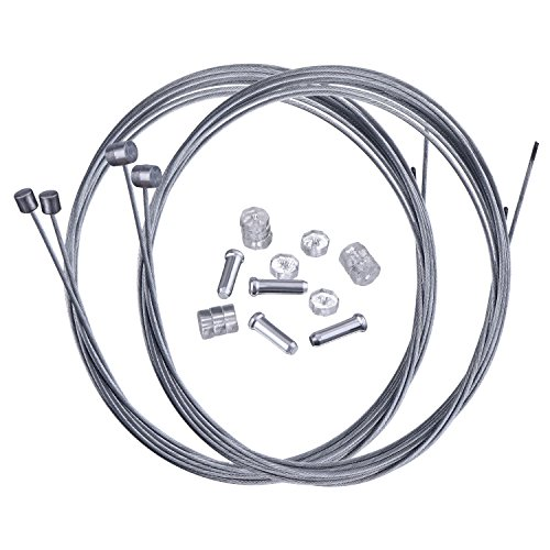 Hotop Mountain Bike Brake Cable Gear Cable Wire and Cable End Crimps Kit
