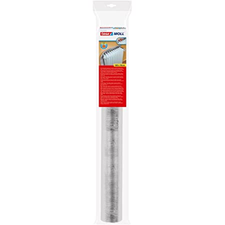 Bakaji Pannello Termoriflettente per Termosifoni e Caloriferi Dimensione 70 x 100 cm con Superficie Goffrata Risparmio Energetico Colore Silver