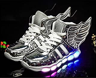 White Dwarf Kids High Top Rechargeable LED Flashing Detachable Wing Shoes (Toddler/Little Kids/Big Kids)