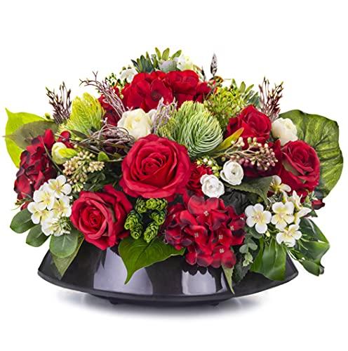 Grabschmuck Blumengesteck Grabgesteck Friedhof Künstliche Blumen Rosen