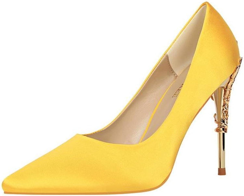 Gusha Delicate Elegant Stiletto Wedding shoes Frosted Women's Dress Sandals