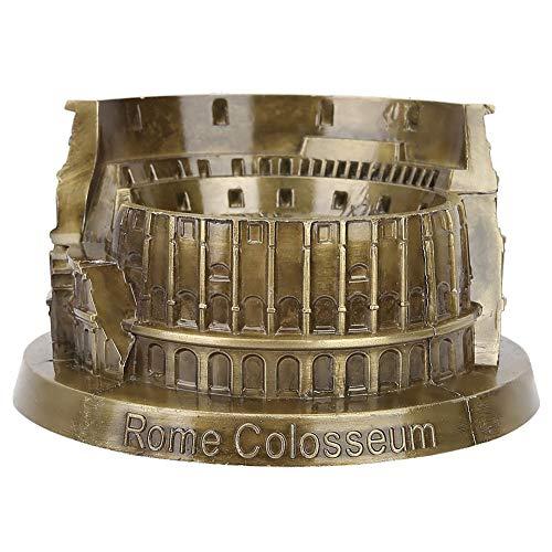 Rome Colosseum Model, Artificial Metal Miniature Roman Colosseum Statue for Home Office Arts Craft Desktop Decoration Gift
