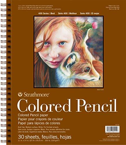 Pro-Art-Bilderpalette Strathmore Spirale Crayon coloré Bloc-Notes Papier 28 x 35,5 cm, 30 Feuilles
