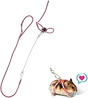 BBEART Hamster Harness,Adjustable Harness Vest Leash Hamster Chest Straps with a Small Bell Rat Mouse Squirrel Sugar Glider Small Animal