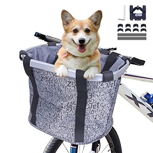 MAIGG Cestini per Bici per Cani, Anteriore Pieghevole Cestini da Ciclismo, Pieghevole Facile da Installare, Domestici Multiuso per Cestino, Borsa per Spesa, Tasche Portaoggetti, Campeggio, Picnic