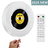 2020 Upgraded Portable CD Player with Bluetooth, FM Radio, Wall Mountable CD Music Player with IR Remote Control,...