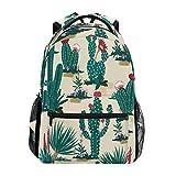 Alarge - Mochila con patrón de cactus tropicales, para viajes, escuela, universidad, libros, camping, senderismo, portátil