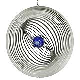 CIM Edelstahl Windspiel - STRUDEL 300 - lichtreflektierend - Durchmesser: 30cm - inkl. Aufhängung und Glaskugel