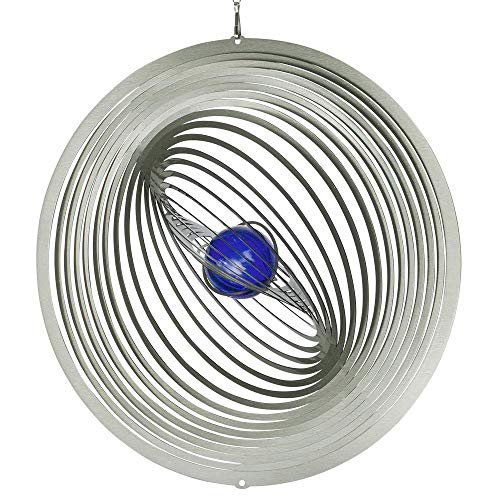 CIM Edelstahl Deko Windspiel - STRUDEL 300 - lichtreflektierend - Durchmesser: 30cm - inkl. Aufhängung und Glaskugel