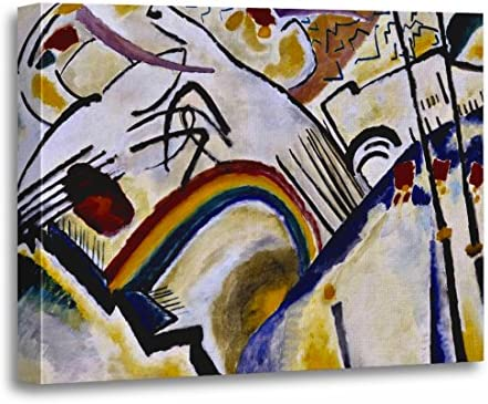 COSSACKS BY WASSILY KANDINSKY FRAMED CANVAS PRINTS WALL ART DECO ABSTRACT PRINTS