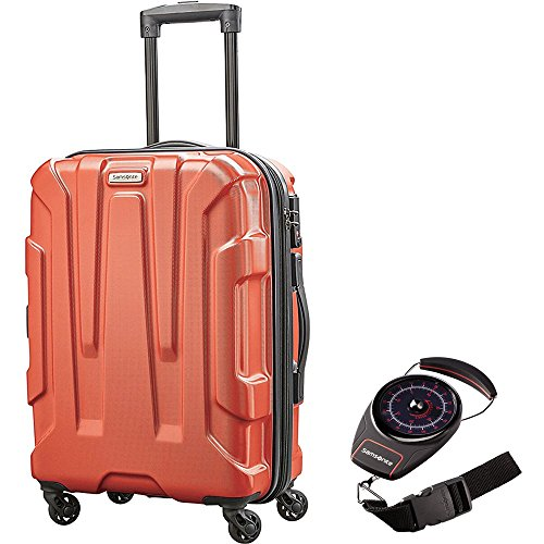 Samsonite 92794-1156 Centric Hardside 20 Inch Carry-On Luggage Spinner - Burnt Orange Bundle with Manual Luggage Scale