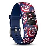 Garmin vivofit Jr. 2 - Marvel Captain America Fitness <span class='highlight'>Activity</span> Tracker for Kids - Adjustable Band - Multicolour