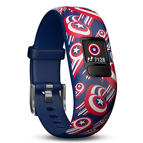 Photo of Garmin vivofit Jr. 2 – Marvel Captain America Fitness Activity Tracker for Kids – Adjustable Band – Multicolour