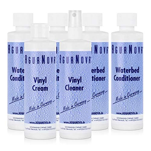 4x AguaNova Wasserbett Conditioner, 1x Vinyl Cleaner, 1x Vinyl Cream