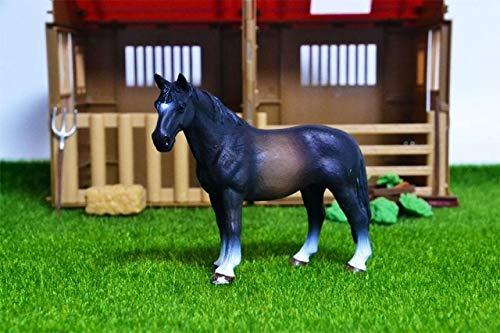 44 soorten boerderijdieren Appaloosa Harvard Hannover Clydesdale Quarter arabian Horse collection boerderij stabiel figuur Model kinderspeelgoed, Mustang paard mannelijk