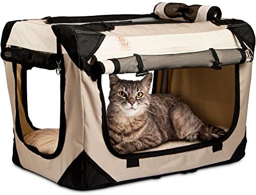 PetLuv Happy Cat Premium Cat Carrier Soft Sided Foldable Top Side Loading Pet Crate Carrier product image