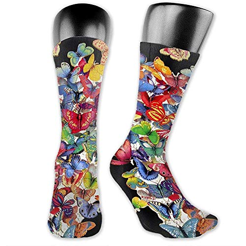 Calcetines,Butterfly Puzzle 3D Print Sock Creative Lovely Calcetines De Compresión Para Deportes Athletic Soccer,40cm