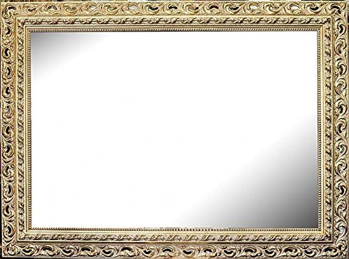 Specchiera dorata classica cornice traforata in oro foglia barocco - varie dimensioni -  artecentro B07B31GDHP
