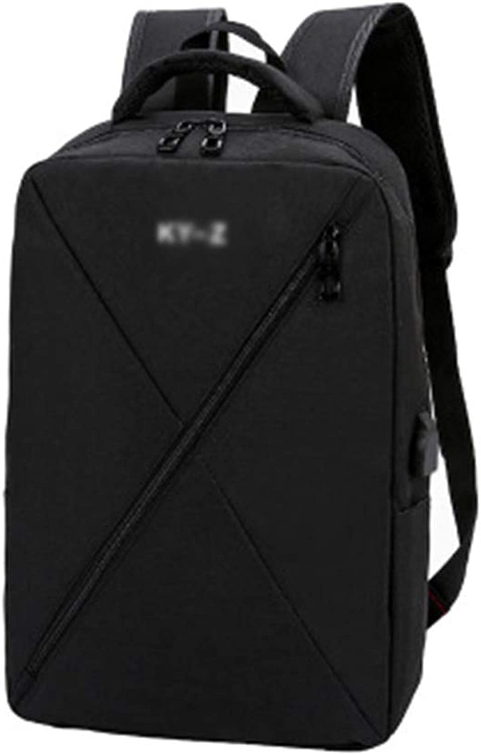 Computer Backpack, Fashion School Backpack Laptop Bag Waterproof Nylon Casual Backpack with USB Charging Port,Suitable for The 15.6Inch Computer of The Tourism Business