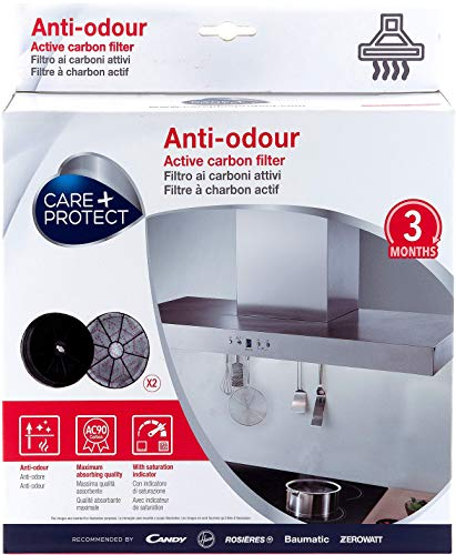 CARE + PROTECT Filtres de Hotte à Charbon Actif Anti-odeur Compatibles type 145 35602057