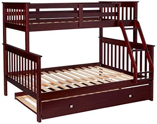 Donco Kids Mission Bunk Bed with Trundle, Twin/Full/Twin, Dark Cappuccino