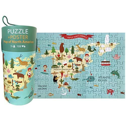 Kartonnen puzzels vis educatieve toysGame Interessante verjaardagscadeautjes 100 stuks