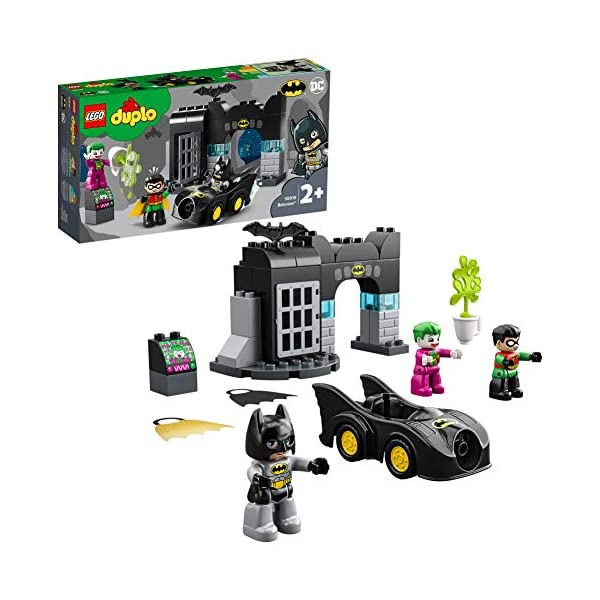 DUPLO Super Heroes DUPLO DC Comics BatmanBatcuevaconBatmóvilyJOKERCoche de Juguete para Niños Pequeñosa partir de2Años, multicolor (Lego ES 10919) 1