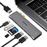 USB C Adapter for MacBook Pro Adapter, MacBook Pro USB Adapter MacBook Pro HDMI Adapters with 3 USB 3.0, 4K@60Hz HDMI, TF/SD, USB-C Thunderbolt 3 100W