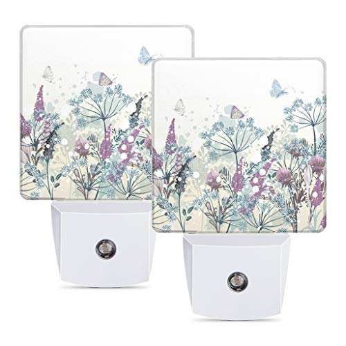 LED Night Light 2 Pack, Decorative Plug-in Lights by Night with Smart Auto Dusk to Dawn Sensor Cute...